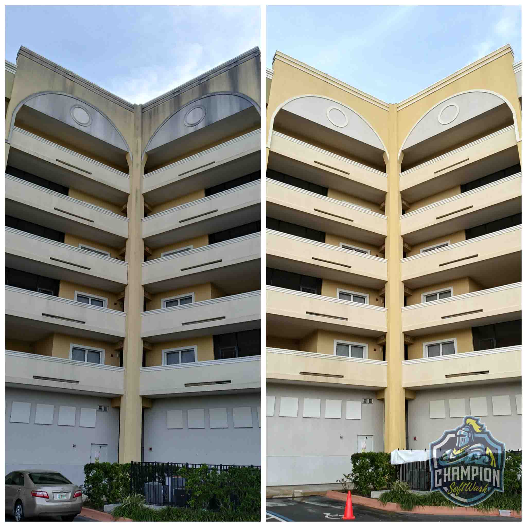Algae and Mold removal pressure washing services for commercial properties, stucco cleaning, efis and dryvit cleaning
