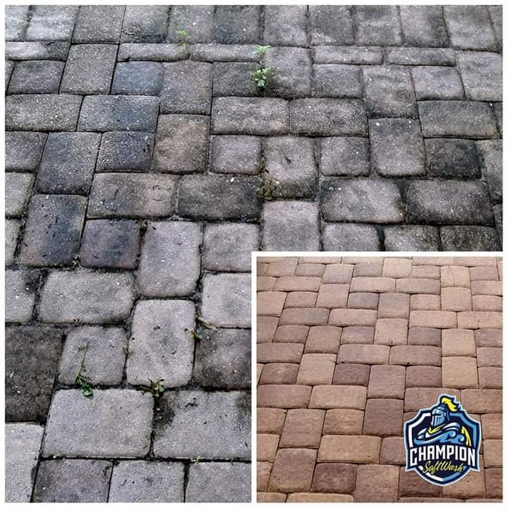 Paver driveway cleaning and sealing, driveway pressure washing, driveway cleaner