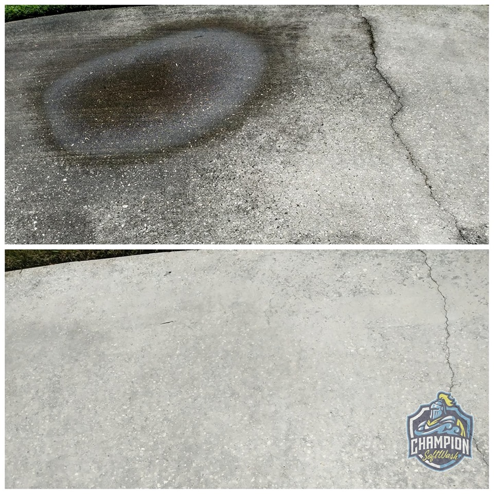 Driveway Cleaning and Roof Cleaning in Sanford Florida, driveway pressure cleaning, driveway soft washing, Lake Mary
