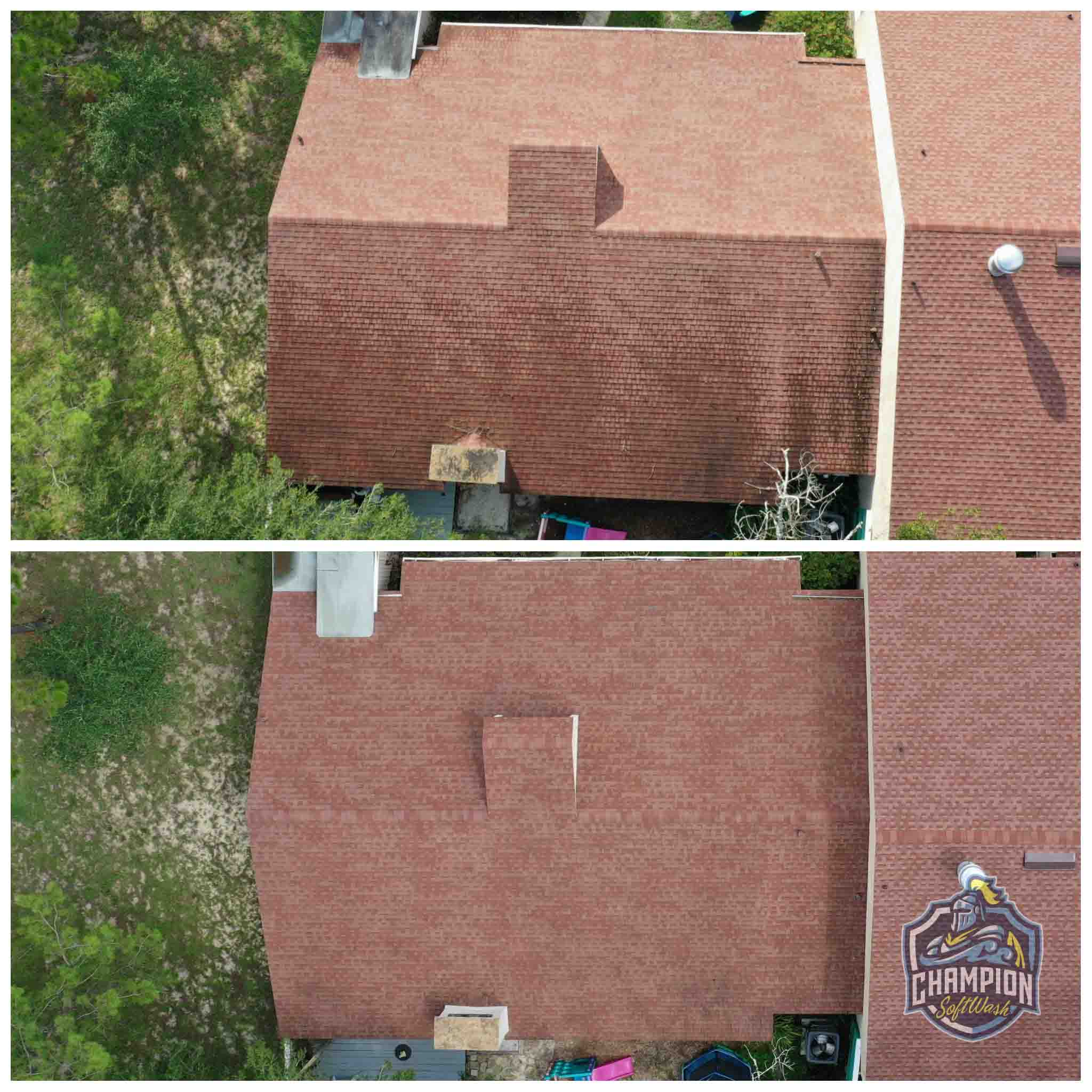 Dirty roof cleaning for townhouse condo
